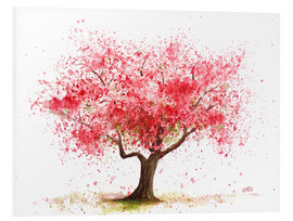 Foam board print  Cherry tree - Nadine Conrad