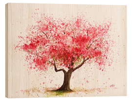 Wood print  Cherry tree - Nadine Conrad