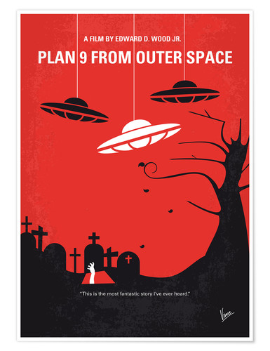 Premium poster No518 My Plan 9 From Outer Space minimal movie poster