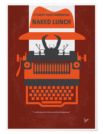 Premium poster No534 My Naked Lunch minimal movie poster