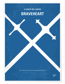 Premium poster No507 My Braveheart minimal movie poster