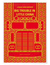 Premium poster No515 My Big Trouble in Little China minimal movie poster