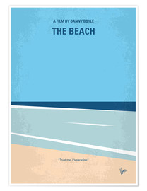 Premium poster No569 My The Beach minimal movie poster