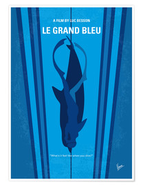 Premium poster No577 My Big Blue minimal movie poster