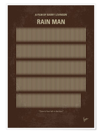 Premium poster No602 My Rain Man minimal movie poster