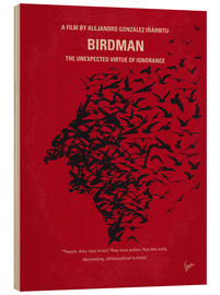 Wood  No604 My Birdman minimal movie poster - chungkong