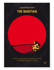 Poster No620 My The Martian minimal movie poster