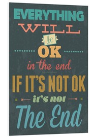 Foam board print  Everything will be ok - Typobox