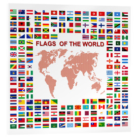 Acrylic print  Flags of the world