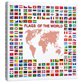 Canvas print  Flags of the world