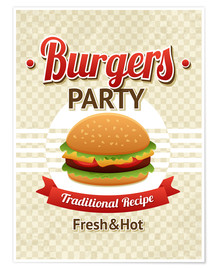 Poster  Hamburger Party