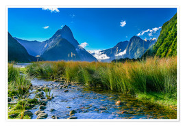 Premium poster  Milford Sound New Zealand - Thomas Hagenau