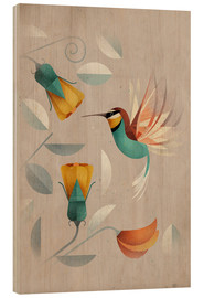 Wood print  Humming-bird - Dieter Braun