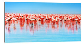 Alu-Dibond  Flamingo in the lake Nakuru