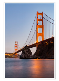 Poster  ?San Francisco Golden Gate Bridge at sunset