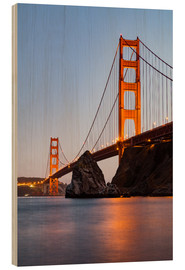 ?San Francisco Golden Gate Bridge at sunset