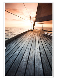Premium poster  Sailboat in the open sea