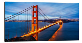 Aluminium print  Golden Gate Bridge, San Francisco