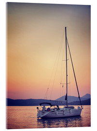 Acrylic print  Romantic date on the water