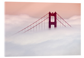 Acrylic print  Golden Gate Bridge in the clouds