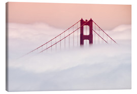 Canvas  Golden Gate Bridge in the clouds