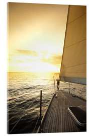 Acrylic print  Sailboat in the open sea