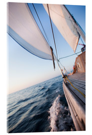 Acrylic print  Sailing in Sunrise