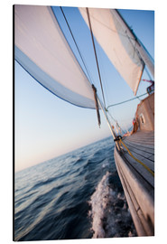 Aluminium print  Sailing in Sunrise