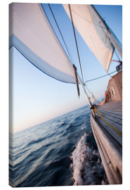 Canvas print  Sailing in Sunrise