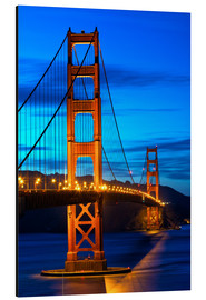 Aluminium print  Golden Gate Bridge at sunset, San Francisco