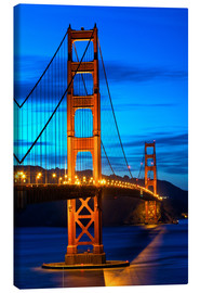 Canvas print  Golden Gate Bridge at sunset, San Francisco
