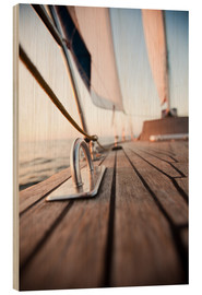 Wood print  Sailing in the Wind