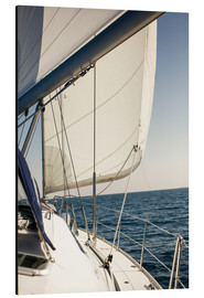 Aluminium print  White sails in the open sea