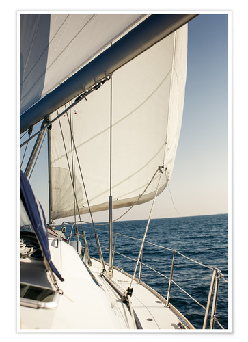 Premium poster White sails and the open sea