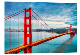 Acrylic print  The Golden Gate Bridge, San Francisco