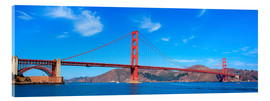 panoramic view of Golden Gate Bridge