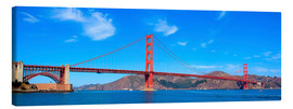 Canvas  panoramic view of Golden Gate Bridge