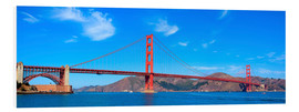 Foam board print  panoramic view of Golden Gate Bridge