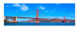 Poster  panoramic view of Golden Gate Bridge