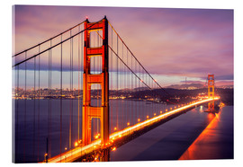 The Golden Gate Bridge by night, San Francisco