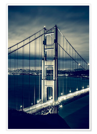 Premium poster Golden Gate Bridge, San Francisco