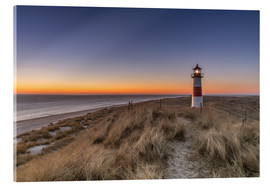 Acrylic print  Sylt island - Lighthouse Sylt Ost (Sunrise) - Achim Thomae
