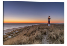Canvas  Sylt island - Lighthouse Sylt Ost (Sunrise) - Achim Thomae