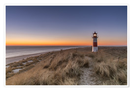 Premium poster  Sylt island - Lighthouse Sylt Ost (Sunrise) - Achim Thomae
