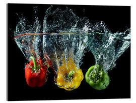 Acrylic print  Peppers splash