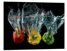 Aluminium print  Peppers splash
