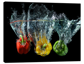 Canvas print  Peppers splash