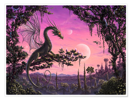 Premium poster Dragon in Paradise