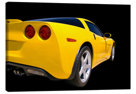 Canvas print  Yellow Corvette - sports car