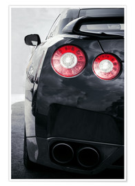 Premium poster  sports car Lights